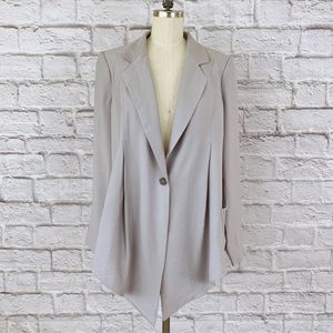Elizabeth and James Wrap Front Blazer